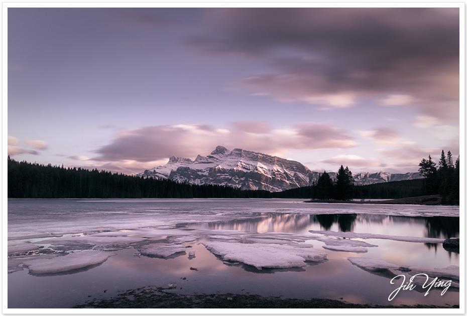 Sunset At Two Jack Lake